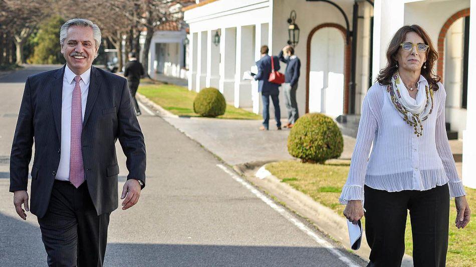 Alberto Fernández y María Eugenia Bielsa 20201112
