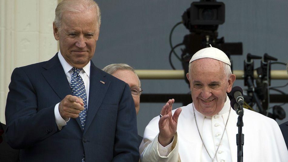 Archivo. Joe Biden junto al Papa Francisco.