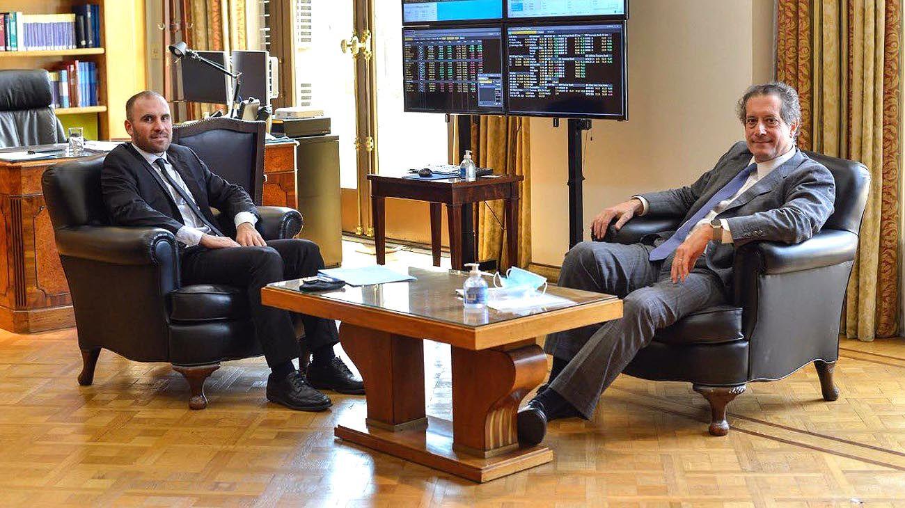 El ministro de Economía reunido con el presidente del Banco Central.