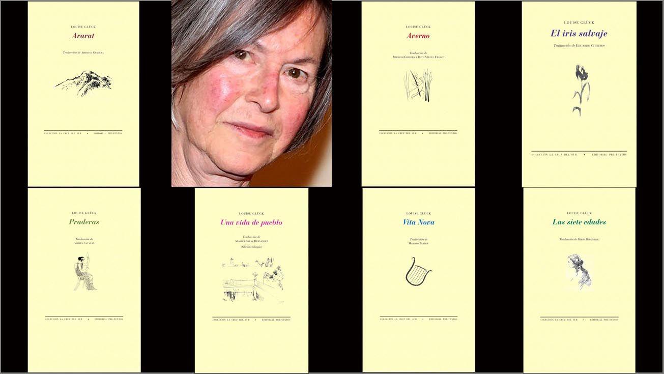La poeta norteamericana Louise Glück y los siete libros publicados en Pre-Textos.