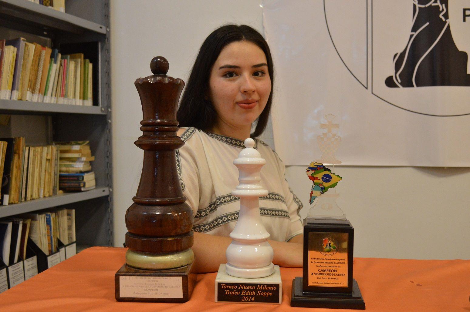 MESTRA INTERNACIONAL. La cordobesa se destaca desde niña en el mundo del ajedrez.