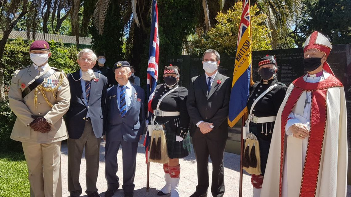 Community leaders ensure Covid-19 doesn't prevent traditional Remembrance Day services from going ahead, though attendance was limited to just 20 people.