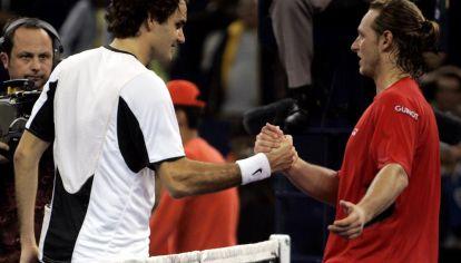 Una final inolvidable. Federer y Nalbandian se enfrentaron en el inicio y en la definición del Masters de China 2005.