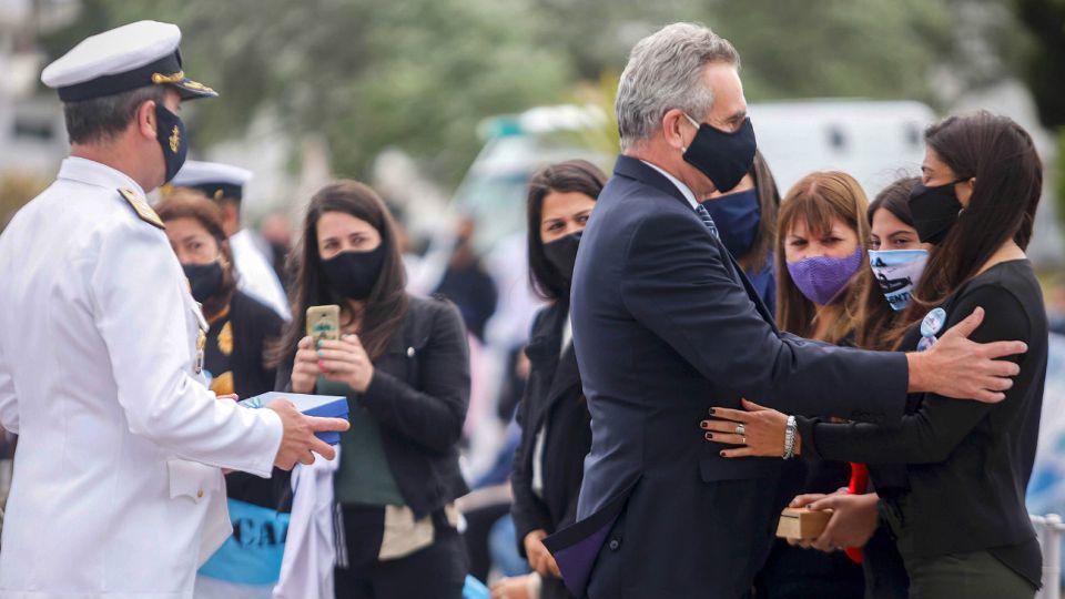 El homenaje a las víctimas del ARA San Juan en la ciudad de Mar del Plata.