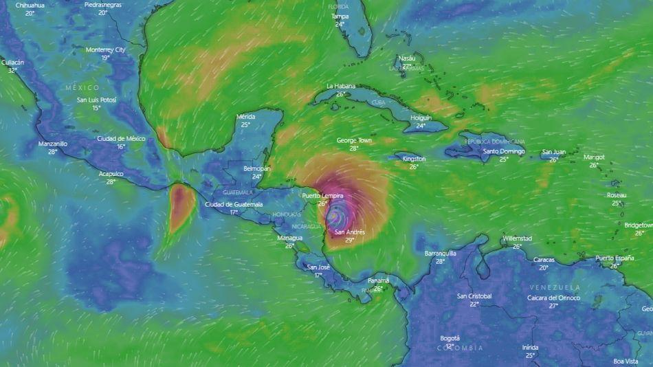 En Providencia Iota registró vientos de 187 km/h y olas de cuatro metros de altura