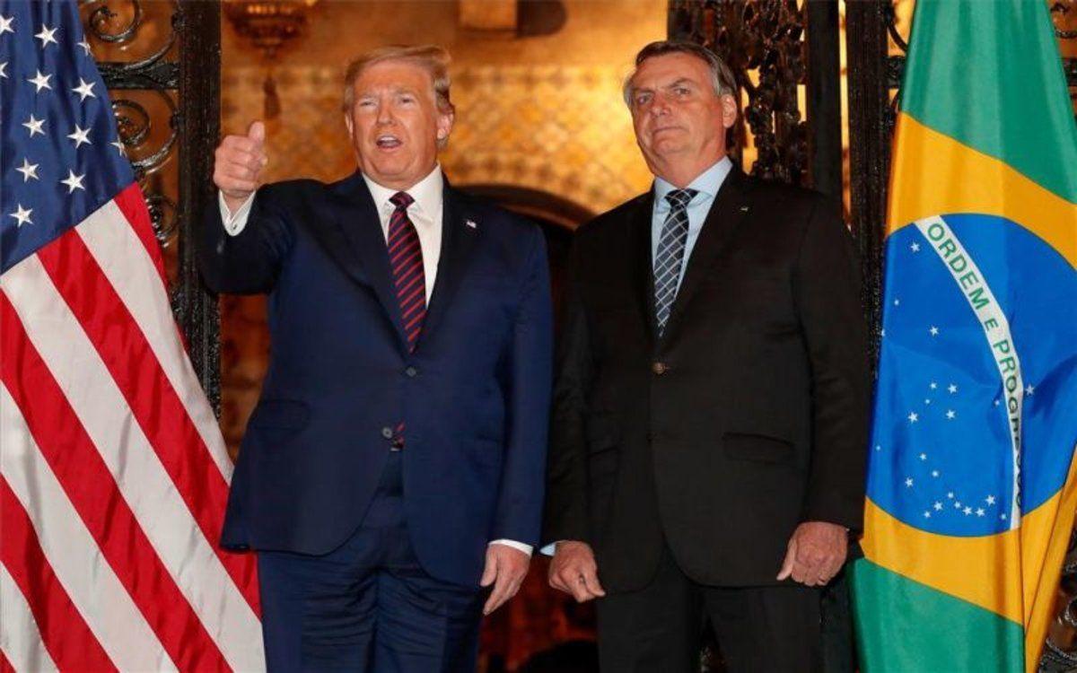 Son estrechos aliados. Bolsonaro, como Trump, no reconoció la victoria de Joe Biden.
