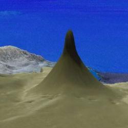 El arrecife tenía una base en forma de cuchilla de 1,5 kilómetros de ancho.