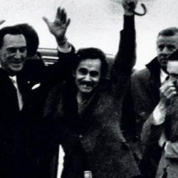 Perón, con Rucci y Abal Medina en su regreso   Foto:Cedoc