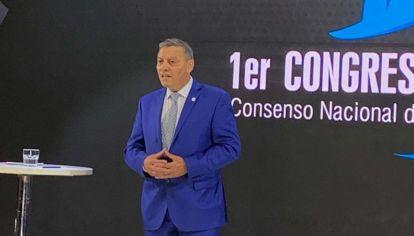 Daniel Rosato, presidente de IPA, en la presentación del Congreso Industrial Pyme.