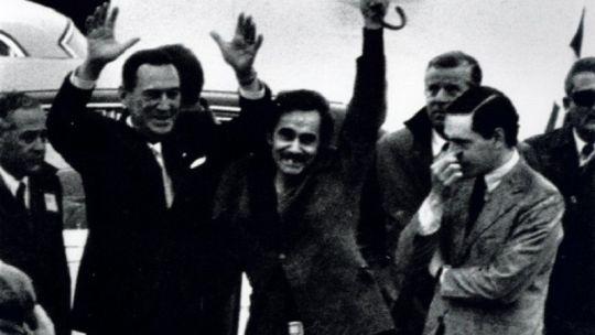 Perón, con Rucci y Abal Medina en su regreso