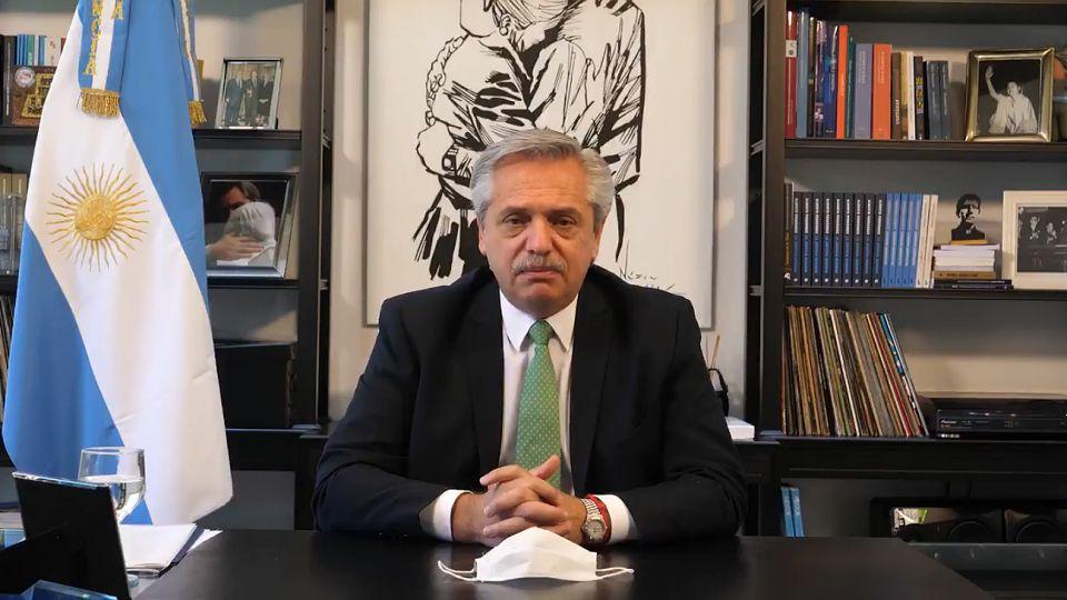 Alberto Fernández, al anunciar el envío de proyectos vinculados al aborto al Congreso.