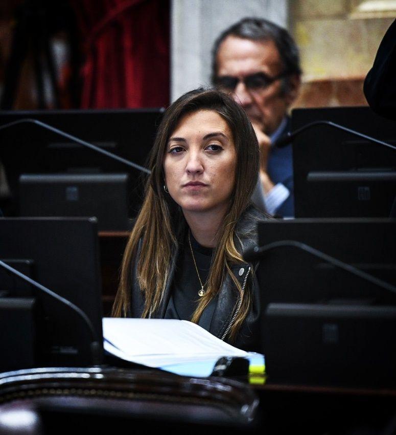 La Senadora por San Luis María Eugenia Catalfamo autora de la Ley.