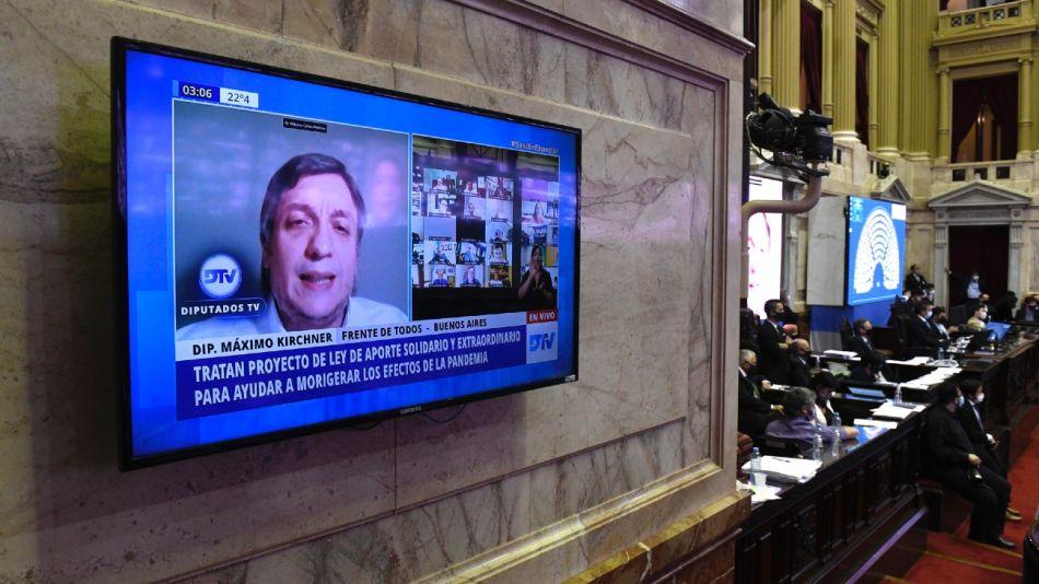 Máximo Kirchner, en sesión remota