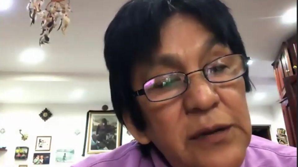 Milagro Sala, durante una charla virtual de Justicia Legítima