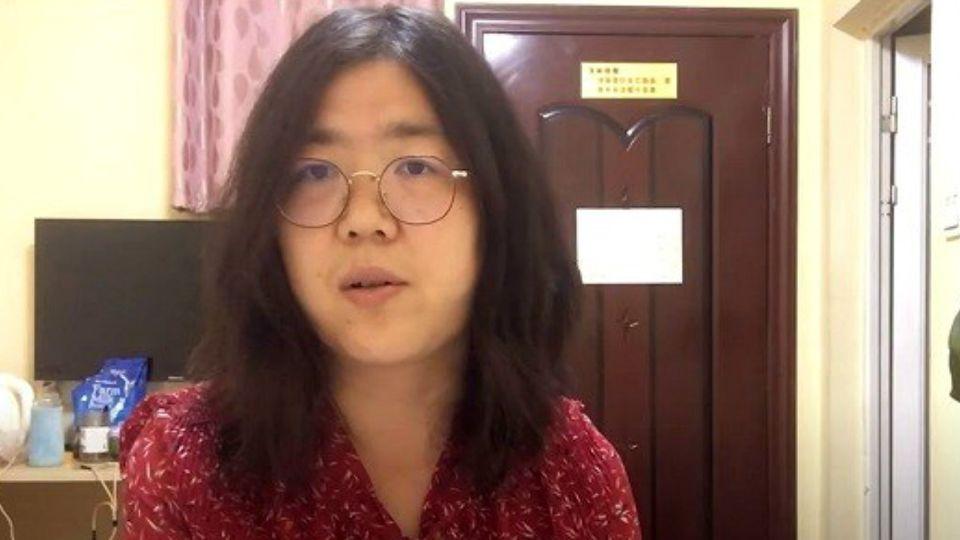 Zhang Zhan, la periodista china que denunció las irregularides en Wuhan y puede ir a la cárcel.