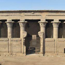 El milenario templo de Khnum está ubicado en la ciudad egipcia de Esna.