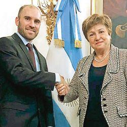 Ministro de Economía y directora del FMI | Foto:Cedoc