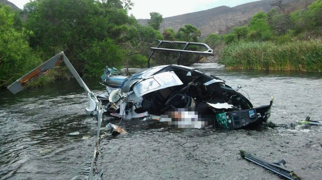 Helicóptero en el que viajaba Jorge Brito.