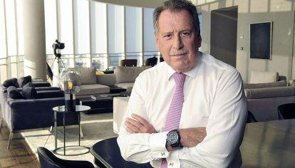 Búnker. Jorge Brito, en enero de 2020, en su oficina de la flamante torre de Banco Macro, en la zona de Catalinas.