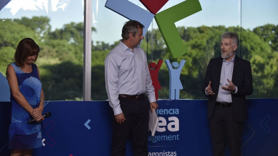 Silvia Bulla, Roberto Murchinson y Luis Guastini, en Experiencia IDEA Management.