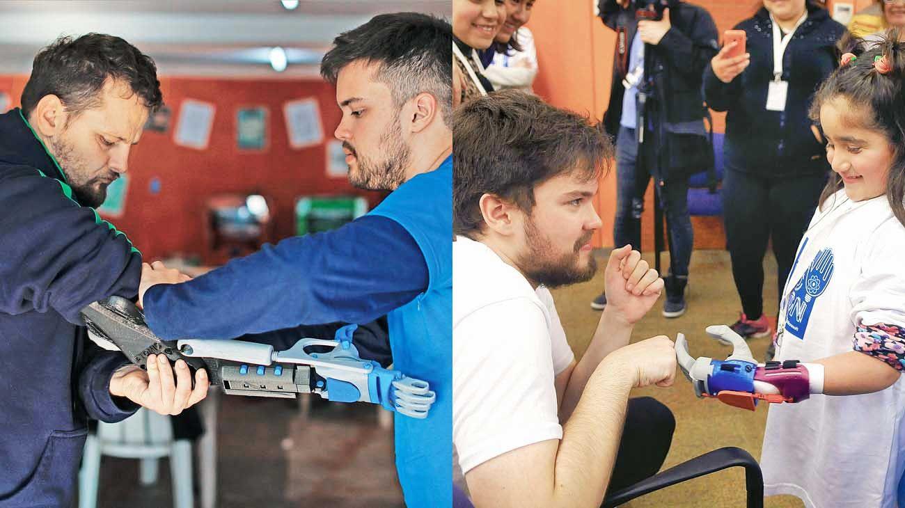 Labor. El joven ingeniero realiza piezas tanto para adultos como para niños de toda Latinoamérica.