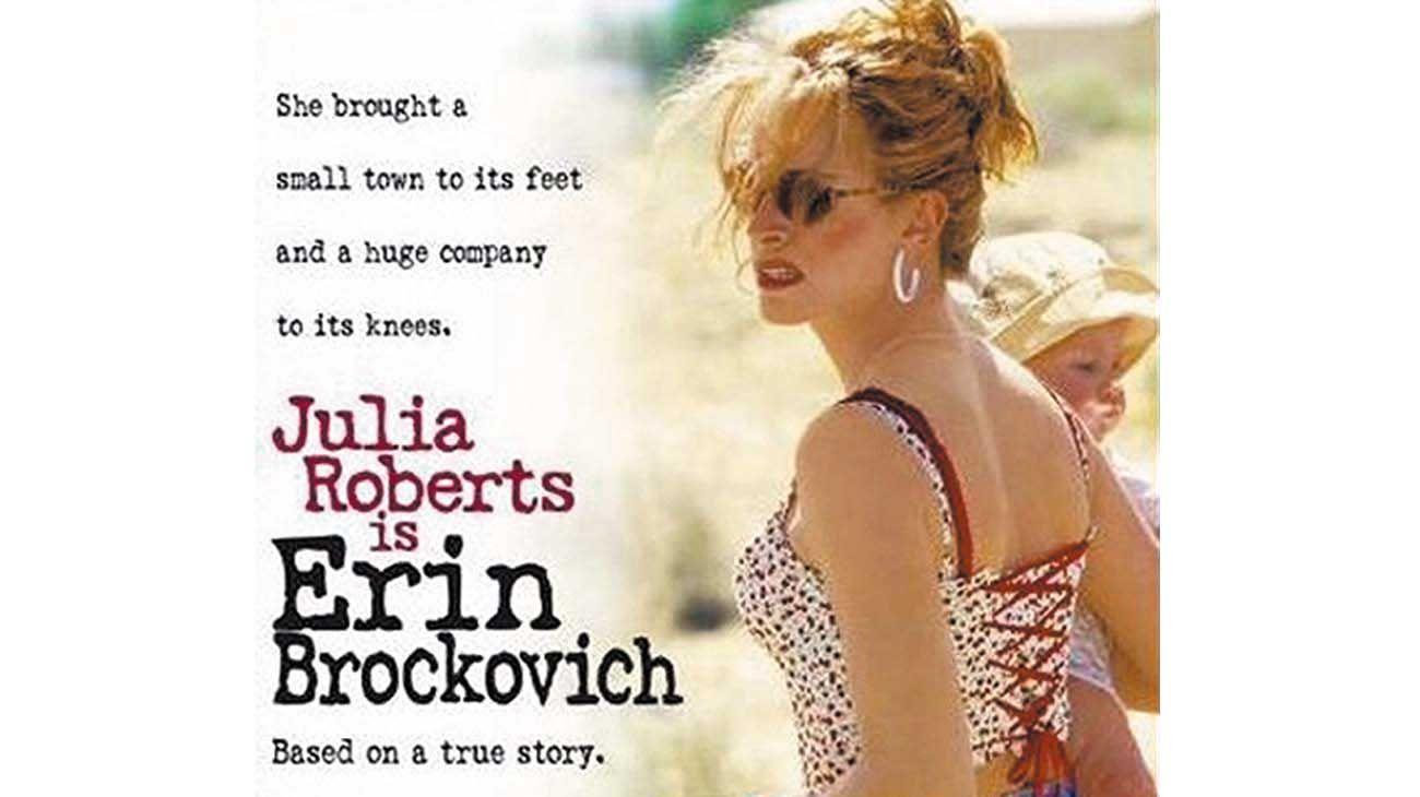 JULIA ROBERTS. Ganó el Oscar por su interpretación de la activista.