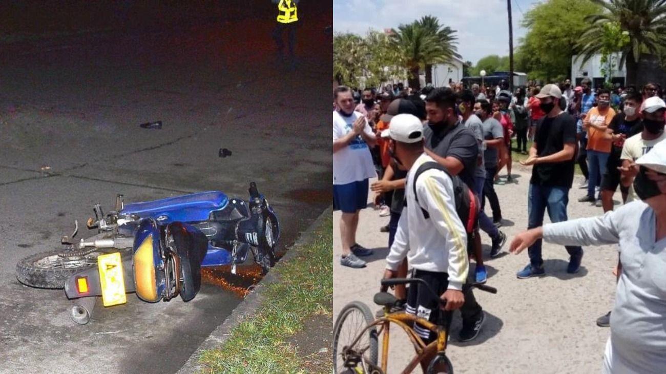 Accidente fatal en Añatuya,Santiago del Estero, y masiva protesta.