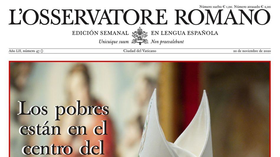 Osservatore Romano de este semana.