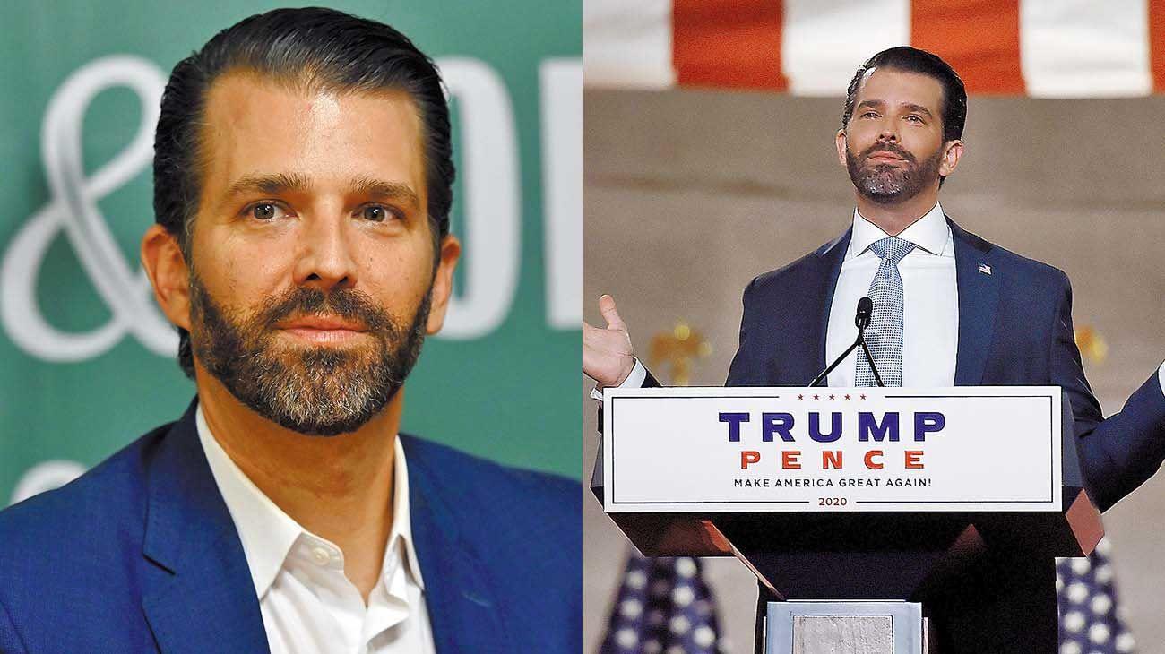 Hijo del poder. Donald Junior tiene 42 años, dio positivo de Covid-19; es asintomático.