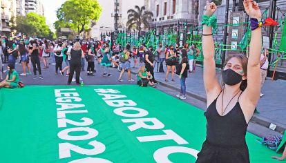 Expresiones. La foto muestra un detalle de las manifestaciones a favor de la nueva ley.