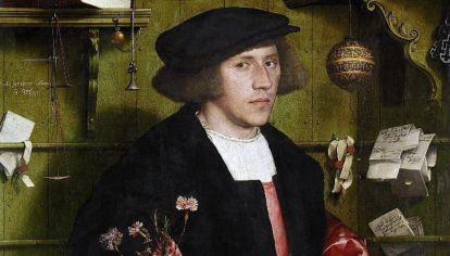 Hans Holbein, El Mercader Gisze - 1532 (detalle).