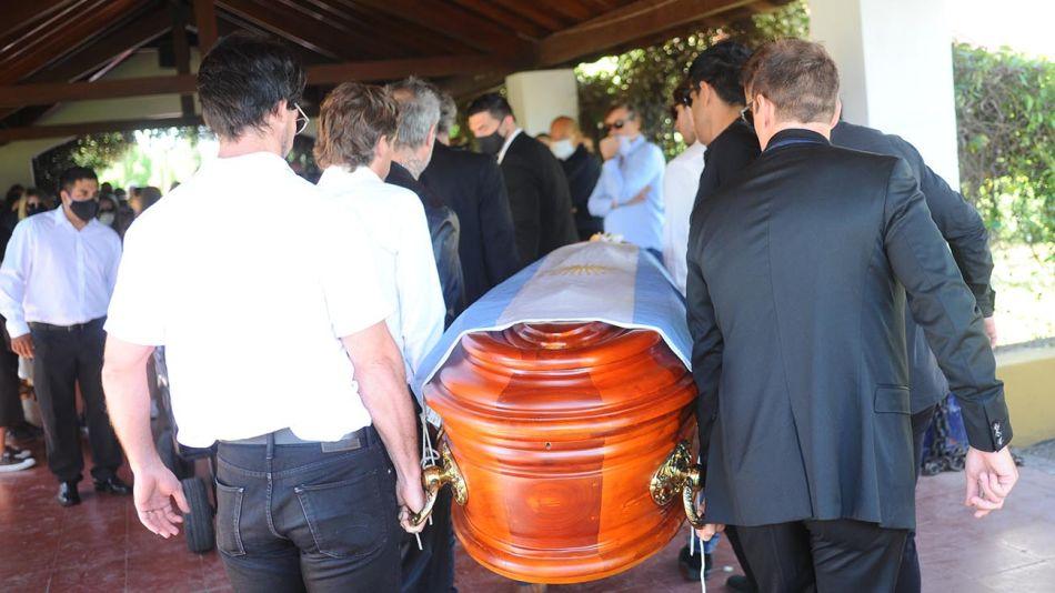 El entierro de Jorge Brito en Pilar.