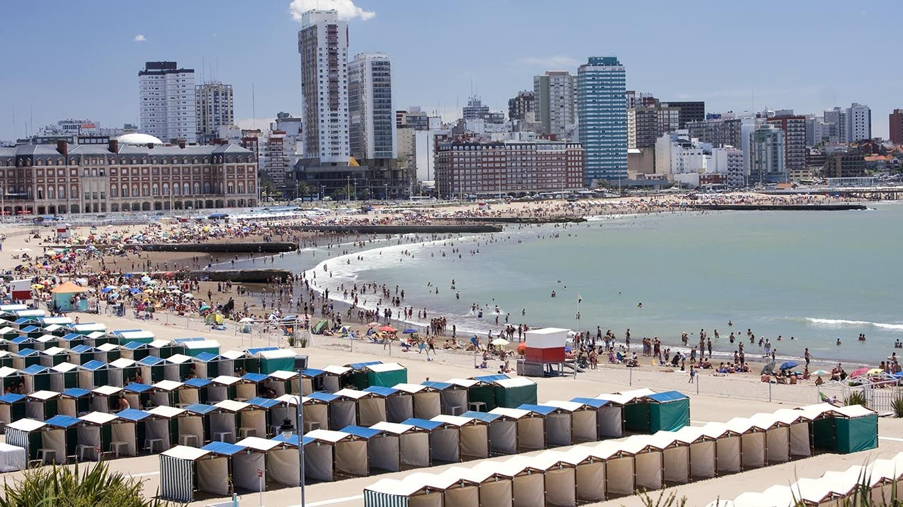 Así se vivió el domingo en las playas de Mar del Plata
