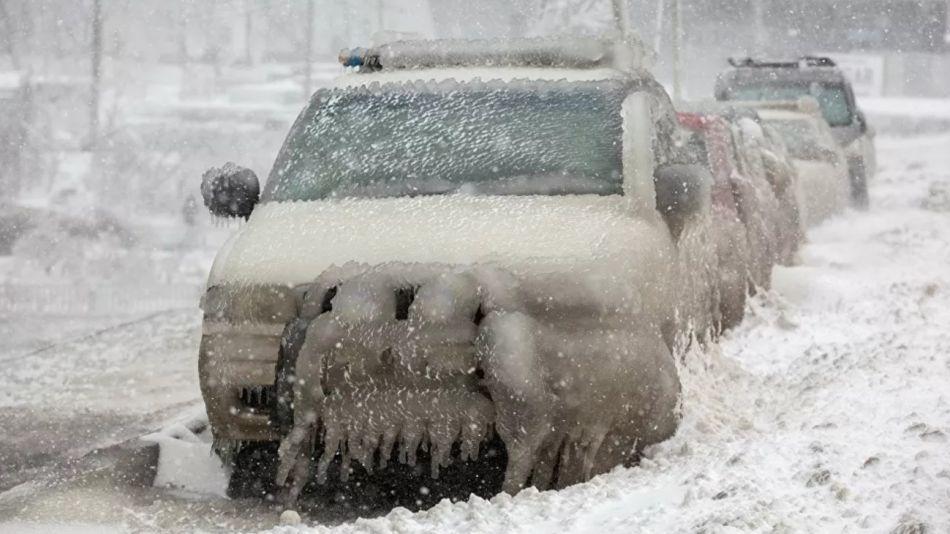 Ciclón y lluvia helada en Rusia 1