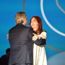 Alberto Fernández y Cristina Kirchner, en tiempos mejores. | Foto:Cedoc