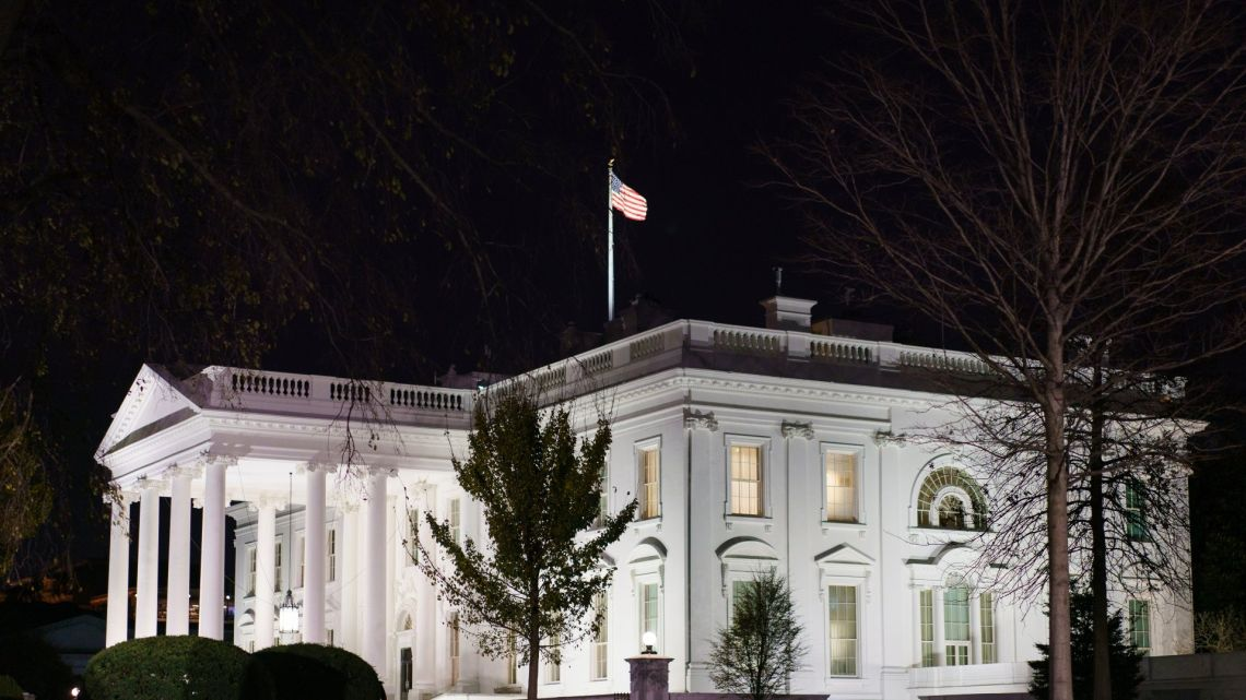 """This November 23, 2020 photo shows the White House in Washington DC. US President Donald Trump came his closest yet to admitting election defeat November 23 after the government agency meant to ease Joe Biden's transition into the White House said it was finally lifting its unprecedented block on assistance. Trump acknowledged it was time for the General Services Administration to """"do what needs to be done."""""""