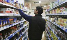 Aumento de precios en alimentos y bebidas.