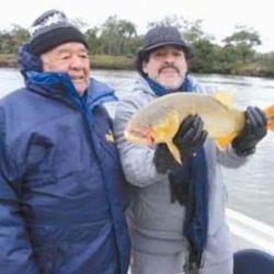 El papá de Diego era de Esquina, Corrientes, y le transmitió a su hijo la pasión por la pesca.