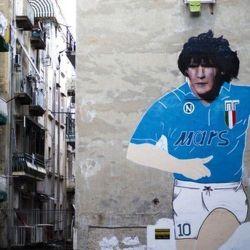 Uno de los murales más famosos está en el Quartieri Spagnoli.