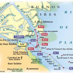 Mapa de la zona relevada.