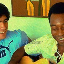 Diego Maradona y Pelé en 1979 | Foto:IG: @maradona