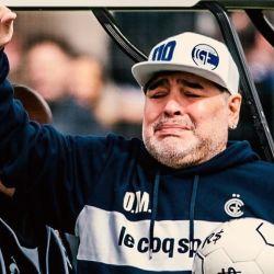 Maradona emocionado | Foto:CEDOC.