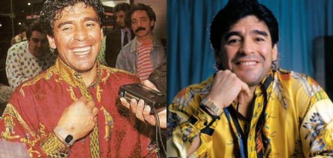 Diego Maradona y Versace: por qué se convirtió en su diseñador favorito