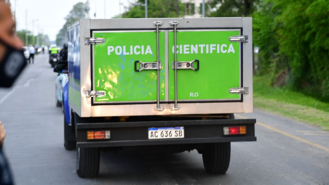 A scientific police van carrying football star Diego Maradona death body leaves the gated community where he died, in Benavidez, Buenos Aires Province, on November 25, 2020.