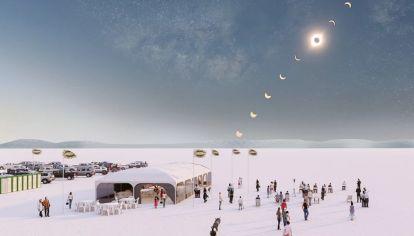 Eclipse en 4x4: un combo irresistible de Las Grutas para ver este fenómeno especial.