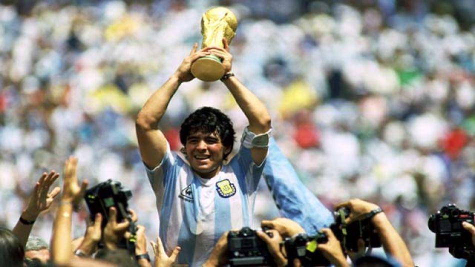 Diego Armando Maradona en el Mundial México 86.