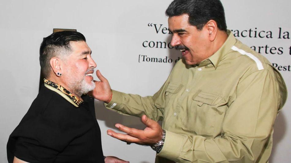 Diego Maradona y Nicolás Maduro Venezuela