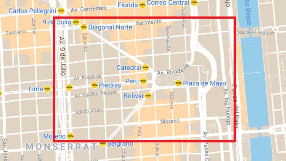 Restricciones Perímetro Casa Rosada