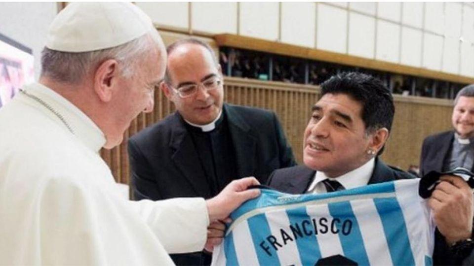 Fallecimiento Diego Armando Maradona con Francisco