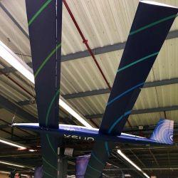 El modelo se basa en el uso de cuatro alas y células solares.